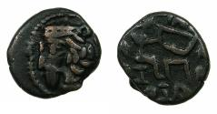 Ancient Coins - INDO PARTHIA.Gondopharid Dynasty.Sanabares , Usurper mid 1st cent BC.AE.Drachma.Mint of ARIA.