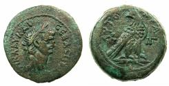 Ancient Coins - EGYPT.ALEXANDRIA.Claudius AD 41-54.AE.Diobol,struck AD 52/53. Ptolemaic style eagle reverse.