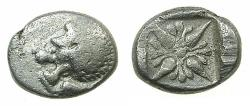 Ancient Coins - IONIA.MYLETOS.Circa late 6th to early 5th cent BC.AE.Obol.