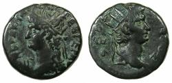 Ancient Coins - EGYPT.ALEXANDRIA.Nero AD 54-68.Billon Tetradrachm, struck AD 66/67. Reverse. Radiate bust of Augustus.