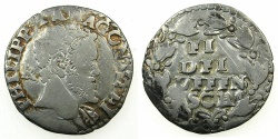 World Coins - ITALY.Kingdom of Naples and Sicily.Philip II 1554-1598, 2nd period King of Spain and Naples-Sicily 1556-1598.AR. Carlino N.D.Mint of NAPLES