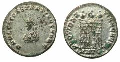Ancient Coins - ROMAN.Constantine II Caesar AD 316-337.AE.Follis. Mint of Heraclea, 5th officina. Coin retains most of the original silvering. Scarcer type .