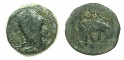 Ancient Coins - Artaxiads of ARMENIA.Tigranes IV 8-5 BC.AE.16.7mm.~#~.Elephant standing left.