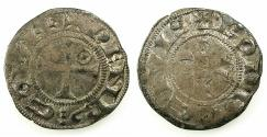 World Coins - FRANCE.LANGUEDOC.Counts of RODEZ.Henry II or III circa 1214-1302.Billon Denier.