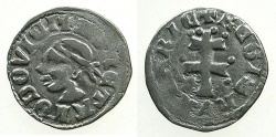 World Coins - HUNGARY.Louis I AD 1342-1382.AR.Dinar.~~~Moors head.