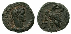 Ancient Coins - EGYPT.ALEXANDRIA.Gallienus AD 253-268.Billon Tetradrachm.struck AD 263/4.Reverse.Eagle, palm branch behind.
