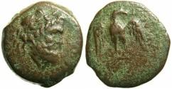 Ancient Coins - SICILY.AGRIGENTUM.Circa 241-210 BC.AE.24.Zeus.Facing eagle.