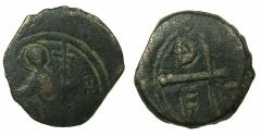 World Coins - CRUSADER STATES. Principality of Antioch.Tancred AD 1104-1112.AE.Follis.3rd type. Saint Peter standing.