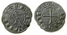 World Coins - CRUSADER STATES.Principality of ANTIOCH.Bohemond III or IV c.1163-1233.Bi.Denier.class C