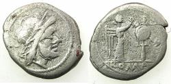 Ancient Coins - ROME.REPUBLIC.Anonymous Circa 211-206 BC.AR.Victoriatus. Jupiter.Reverse.Roma.