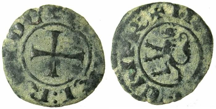 Ancient Coins - CRUSADER.CYPRUS.Henry II AD 1275-1324.Bi.Denier