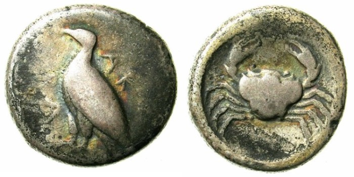 Ancient Coins - SICILY.AKRAGAS.before 413 BC.AR.Didrachm.Eagle / Crab.