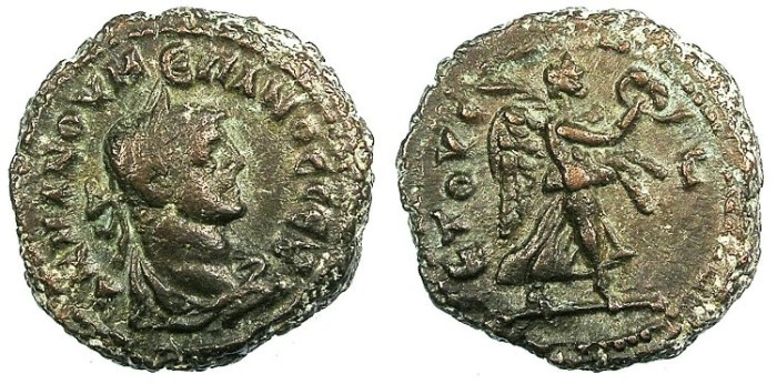 Ancient Coins - EGYPT ALEXANDRIA.Numerian AD 283-284.Bi.Tetradrachma.Nike advancing right.