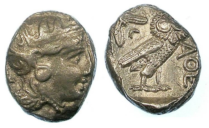 Ancient Coins - ATTICA.ATHENS.late 4th - Early 3rd cent BC.AR.Tetradrachm.