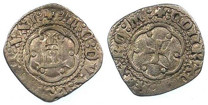 Ancient Coins - ITALY.GENOA.Tommaso di Campofregoso 1436-42.AR.Soldino.