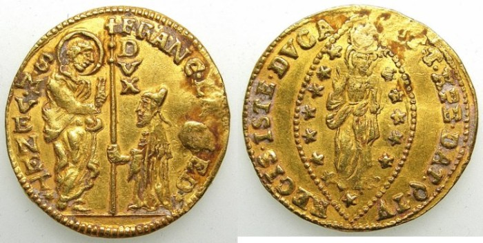 Ancient Coins - ITALY.Venice.Francesco Loredan 1752-1762.AV.Zecchino.