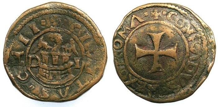Ancient Coins - CRUSADER.CHIOS.The Mahona.Nicolas di Giovanni Antonio Giustinani Campi.AD 1529.AE.Doppio Tornese