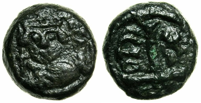 Ancient Coins - BYZANTINE EMPIRE.SICILY.Heraclius AD 610-641.AE.Decanummia, struck AD 619/20.Mint of CATANIA.
