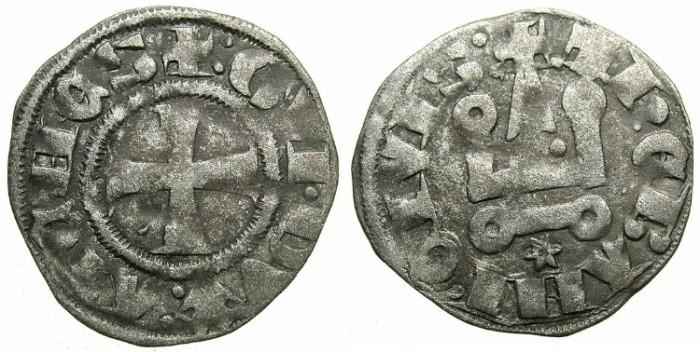 Ancient Coins - CRUSADER.ATHENS.Guy II of la Roche AD 1287-1308.Bi.Denier.Type 2.
