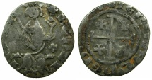 World Coins - CRUSADER STATES.CYPRUS.Henry II AD 1285-1324.AR.Gros Petit.~#~.Cinquefoil obverse field.RARE.