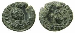 Ancient Coins - ROMAN.Aelia Eudoxia, wife of Arcadius AD 9th Jan. 400-6th Oct.404.AE.17.6mm. Mint of ANTIOCH