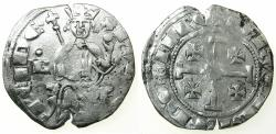 World Coins - CRUSADER STATES.CYPRUS.Hugh IV AD 1324-1359.AR.Gross Grand.B with pellet above left field.