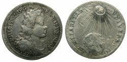 World Coins - ITALY.Kingdom of Naples and Sicily.Philip V King of Spain 1701-1746.AR.Tari ( 2 Carlini ) 1701.Mint of NAPLES.