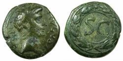 Ancient Coins - SYRIA.ANTIOCH.Augustus 27 BC-AD 14.AE.21.3mm.(Semis).stuck 5 - 14 AD.