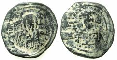 Ancient Coins - BYZANTINE EMPIRE.Constantine X Ducas AD 1059-1067.AE.Follis.Mint of CONSTANTINOPLE. overstrike on issue with Eudocia.