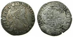 World Coins - ITALY.NAPLES.Philip II King of Spain and Two Sicilies 1556-1598.AR.Carlino.Mint of NAPLES. Varient with R for REX