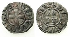 World Coins - CRUSADER STATES.Kingdom of Jerusalem.Amaury AD 1163-1174.Bi.Denier.Type 7a