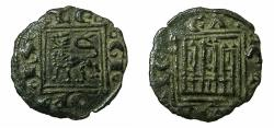 World Coins - SPAIN.CASTILE AND LEON.Alfonso X 1252-1284.Anonymous issue.AE.obol. Uncertain mint.