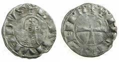 World Coins - CRUSADER STATES.Principality of ANTIOCH. Bohemond III or IV c.1149-1233 Bi.Denier. Class E .