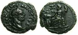Ancient Coins - EGYPT.ALEXANDRIA.Diocletian AD 284-305.Billon Tetradrachm, struck AD 290/291.~#~.Zeus enthroned.