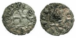 World Coins - CRUSADER.Principality of Achaia.Philip de Taranto AD 1307-1313.Bi.Denier.variety PT2.