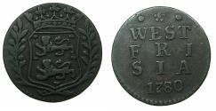 World Coins - NETHERLANDS.WESTFRIESLAND.AE.Duit.1780.