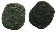 World Coins - CRUSADER STATES.CYPRUS.Peter II AD 1369-1382.AE. Denier. Ex.Slocum coll.