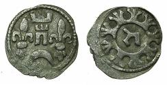 World Coins - HUNGARY.Bela IV AD 1235-1270.AR.Dinar.Struck at a mint in Croatia. Reverse. Hebrew letter TZADI