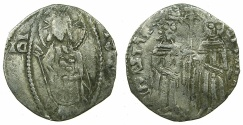 World Coins - SERBIA.Stefan Uros IV Dusan as Emperor AD 1345-1355.AR.Dinar.~#~.Stefan with Elena.
