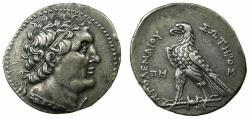 Ancient Coins - PTOLEMAIC EMPIRE.PHOENICIA.Ptolemy VI Philometer, 1st sole reign 180-170 BC.AR.Tetradrachm.struck 172 /3 BC.Mint of ARADUS.