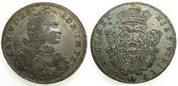 World Coins - ITALY.NAPLES.Charles VI H.R.E and King of Naples 1711-1734.AR.Ducato ( 10 Carlini ) 1715. ****RARE****