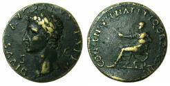 Ancient Coins - ROME.Divus Augustus Died AD 14.AE.'Sestertius' Paduan medallion after Giovanni da Cavino ( AD 1500-1570 ), later after cast.