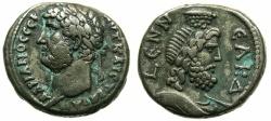 Ancient Coins - EGYPT.ALEXANDRIA.Hadrian AD 117-138.Billon Tetradrachm, struck AD 134/35.~#~.Bust of Serapis wearing modius on head.