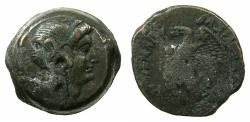 Ancient Coins - PTOLEMAIC EMPIRE.EGYPT.ALEXANDRIA.Ptolemy V Epiphanes 205-180 BC.AE.~~~.Bust of Isis.
