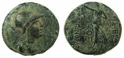 Ancient Coins - APAMEA.Pseudo-Autonomous issue.struck 37/36 BC.AE.19mm.~~~Bust of Athena.~#~.Nike