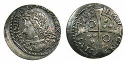 World Coins - SPAIN.BARCELONA.Philip V 1700-1746.AR.Groat.1705. ***Exceptional condition for issue ****