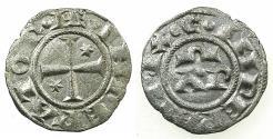 World Coins - ITALY.BRINDISI.Henry VI and Constance AD 1194-1197.Billon Denaro.Type 7