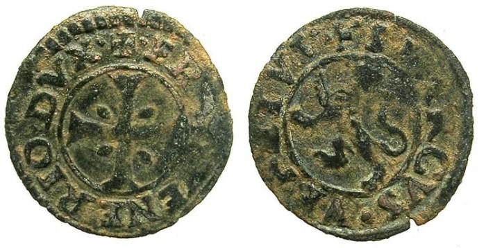 "Ancient Coins - CRUSADER.CYPRUS under VENICE.Francesco Venier AD 1554-1556.Bi.Denier ""Carzia per Cipro""."