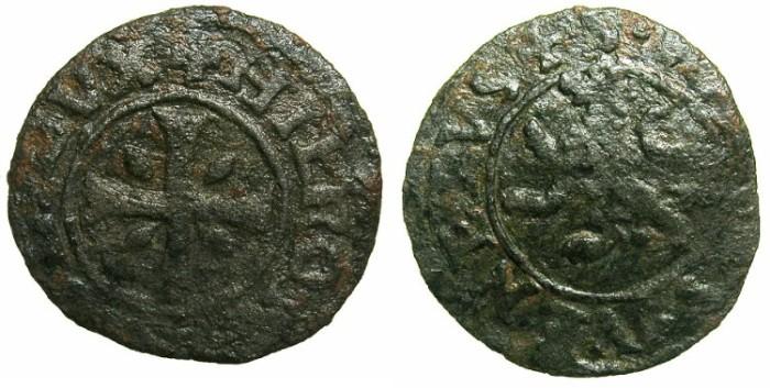 Ancient Coins - CRUSADER STATES.CYPRUS under VENICE.Girolamo Priuli AD 1559-1567.Billon.Carzia per Cipro.