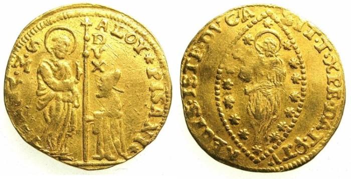 Ancient Coins - ITALY.VENICE.Alvise Pisani  AD 1735-1741.AV.Zecchino.